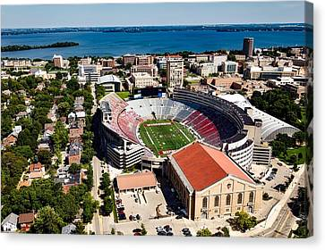 Camp Randall Stadium - University Of Wisconsin Canvas Print by Mountain Dreams