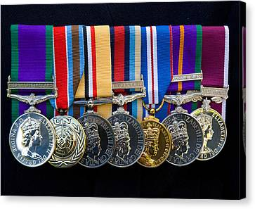 Campaign Medals Canvas Print by Peter Jarvis