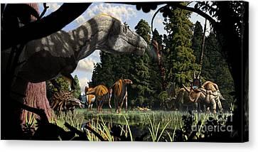 Campanian Montana Landscape Canvas Print