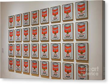 Canvas Print featuring the photograph Campbell Soup By Warhol by Patricia Hofmeester