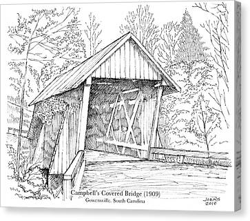 Carolina Canvas Print - Campbell's Covered Bridge by Greg Joens