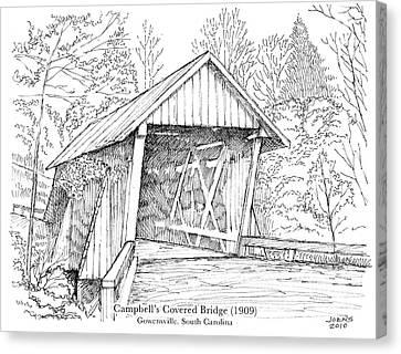 Campbell's Covered Bridge Canvas Print by Greg Joens