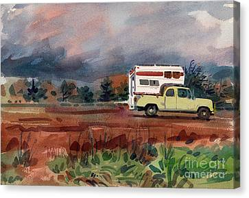 Pch Canvas Print - Camper On Pacific Coast Highway by Donald Maier