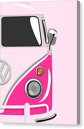 Camper Pink 2 Canvas Print by Michael Tompsett