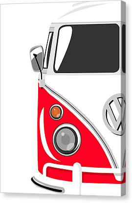 Camper Red Canvas Print by Michael Tompsett