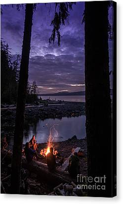 Campfire @ Orca Camp Canvas Print by Dragonfly 'n' Brambles Imagery