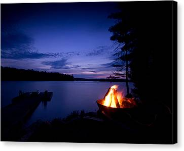 Campfire Canvas Print by Cale Best