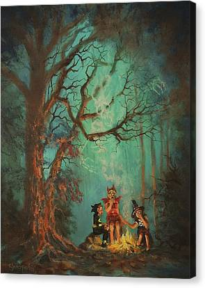 Campfire Ghost Canvas Print