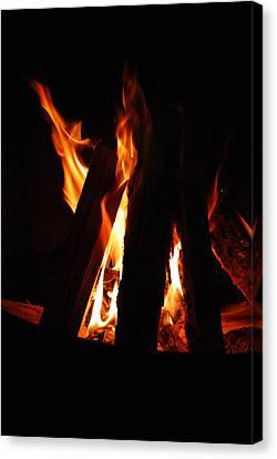 Campfire Canvas Print by Kimberly Camacho