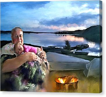 Camping With Grandpa Canvas Print