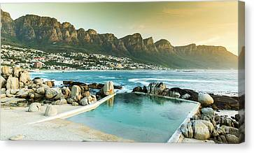 Camps Bay At Dusk Canvas Print by Tim Hester