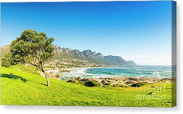 Camps Bay In Cape Town, South Africa Canvas Print by Tim Hester