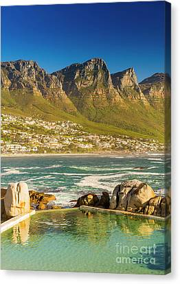 Camps Bay Ocean Pool Canvas Print by Tim Hester