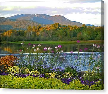 Campton Pond Campton New Hampshire Canvas Print by Nancy Griswold