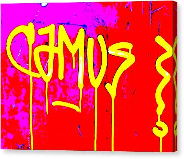 Camus ... Graffitied  Canvas Print by Funkpix Photo Hunter