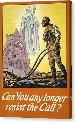 Can You Any Longer Resist The Call Canvas Print by English School