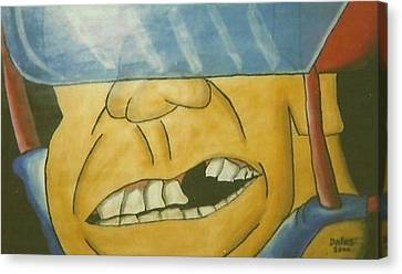 Missing Teeth Canvas Print - Can You See It? by Jason Dains