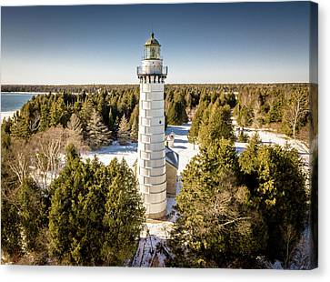 Canvas Print featuring the photograph Cana Island Lighthouse by Randy Scherkenbach