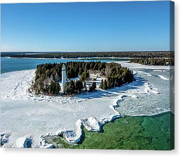 Canvas Print featuring the photograph Cana Island by Randy Scherkenbach