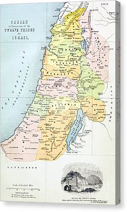Canaan As It Was Divided Between The Twelve Tribes Of Israel Canvas Print by English School