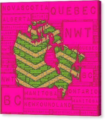 Canada Pink Canvas Print by Brandi Fitzgerald