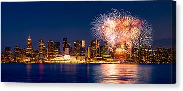 Canada Day 2015 In Vancouver Canvas Print by Alexis Birkill