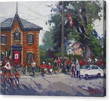 Canada Day Parade At Glen Williams  On Canvas Print