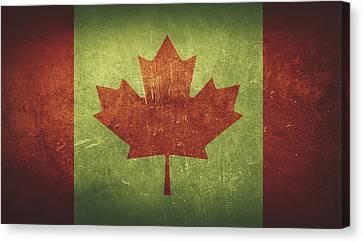 Canada Distressed Flag Dehner Canvas Print