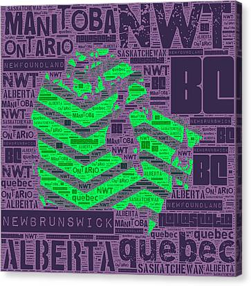 Canada Green Canvas Print by Brandi Fitzgerald
