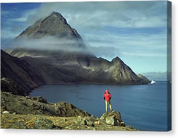Canada, Nunavut, Baffin Island, Mount Herodier, Eclipse Sound Canvas Print