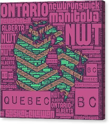 Canada Purple Canvas Print by Brandi Fitzgerald