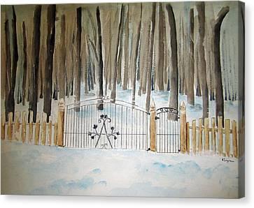Canada The Grove  Canvas Print by Elvira Ingram