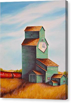 Canada's Grain Train Canvas Print