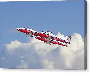 Canadian Air Force Aerobatic Team - Snowbirds Canvas Print by Pat Speirs