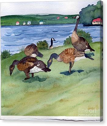 Canadian Geese S  2 Canvas Print by Gloria Couture