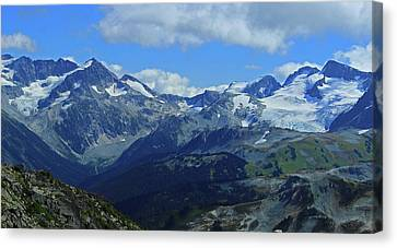 Canvas Print featuring the photograph Canadian Glacier Summer Time by Walter Fahmy