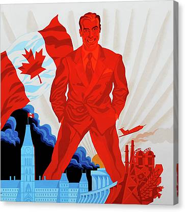 Canadian Liberal Politics Canvas Print by Leon Zernitsky