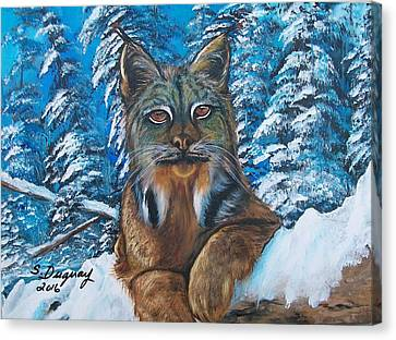 Tree Creature Canvas Print - Canadian Lynx by Sharon Duguay
