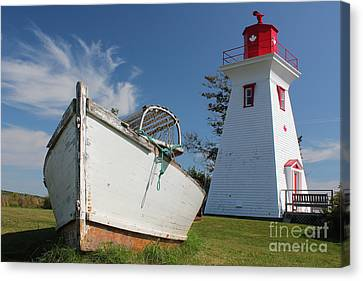 Canadian Maritimes Lighthouse Canvas Print
