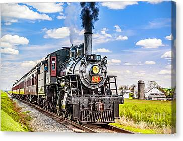 Canvas Print featuring the photograph Canadian National 89 by Nick Zelinsky