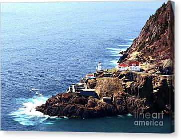 Cost Line Canvas Print - Canadian National Historical Site Fort Amherst And Wwii Bunkers by Alexandar Iotzov
