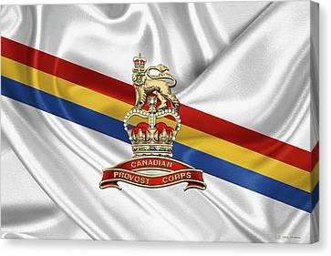 Canadian Provost Corps - C Pro C Badge Over Unit Colours Canvas Print by Serge Averbukh