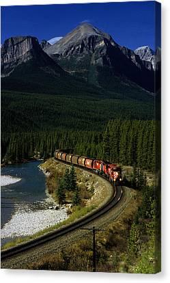 Canadian Railroad Canvas Print by Susan  Benson