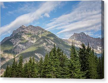 British Columbia Canvas Print - Canadian Rockies Near Kicking Horse Pass by Joan Carroll