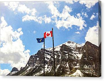 Canadian Rockies Canvas Print by Scott Pellegrin