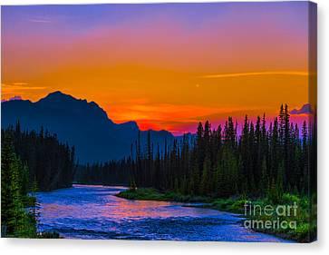 Canadian Rocky Sunset Canvas Print