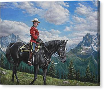 Canvas Print featuring the painting Canadian Majesty by Kim Lockman