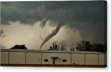 Canvas Print featuring the photograph Canadian Tx Tornado by Ed Sweeney