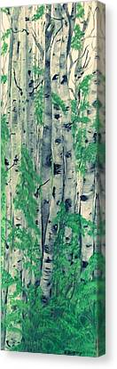 Canvas Print featuring the painting Canadian White  Poplar by Sharon Duguay