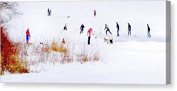 Canvas Print featuring the photograph Canadiana by John Poon